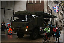 TQ3281 : View of an army truck in the Lord Mayor's Parade on Gresham Street #6 by Robert Lamb