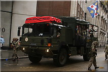 TQ3281 : View of an army truck in the Lord Mayor's Parade on Gresham Street #9 by Robert Lamb