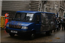 TQ3281 : View of a Central Foundation Boys School van in the Lord Mayor's Parade on Gresham Street by Robert Lamb