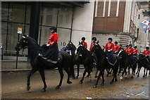 TQ3281 : View of horses in the Lord Mayor's Parade from Gresham Street #4 by Robert Lamb