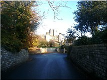 SK5198 : Conisbrough Castle Viewed from Castle Street by Jonathan Clitheroe