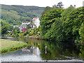 SJ1143 : Afon Dyfrdwy - The River Dee near Carrog, Denbighshire by Roger  Kidd