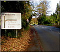 ST5296 : Wyndcliffe junction sign near St Arvans by Jaggery