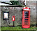 SJ5055 : Elizabeth II postbox and telephone box, Harthill by JThomas