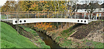 J3673 : New footbridge, Knock River, Belfast - November 2016(1) by Albert Bridge