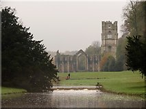 SE2768 : Fountains  Abbey  and  the  River  Skell by Martin Dawes