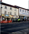 ST5393 : Fenced-off Greggs shop in High Street Chepstow by Jaggery