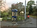 SJ8944 : Fenton Park: BT internet booth outside Vivian Road entrance by Jonathan Hutchins