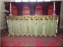 TF5617 : Tilney All Saints Parish Church: altar by Basher Eyre