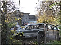 TQ2673 : Car park outside Wandsworth prison by David Smith