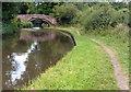 SJ9521 : Towpath near Stoneford Bridge No 103 by Mat Fascione