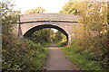 SJ2681 : The Wirral Way at Farr Hall Drive Bridge by Jeff Buck