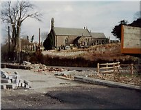 SS8983 : Llansantffraid church Aberkenfig March 1981 by Colin Prosser