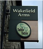 SD5193 : Sign for the Wakefield Arms, Kendal by JThomas