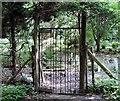 TQ7819 : Gate to Killingan Wood pet cemetery by Patrick Roper