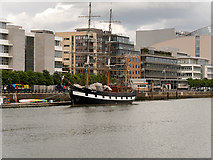 O1634 : River Liffey, Tall Ship Jeanie Johnston by David Dixon