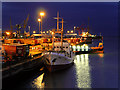 O1834 : Port of Dublin, North Wall Quay (night view) by David Dixon