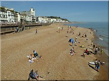 TQ8109 : The beach at Hastings by Philip Halling