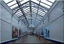 NS3274 : Port Glasgow railway station murals by Thomas Nugent