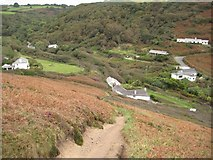 SS1800 : The coast path descending into Millook by Philip Halling