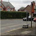 SJ6551 : Temporary traffic lights, Audlem Road, Nantwich by Jaggery