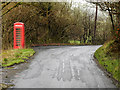 SO0768 : Red Telephone Box near Henfryn by David Dixon