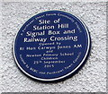 SS8177 : Blue plaque on a wall of the RAFA club, Porthcawl by Jaggery
