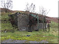 SO0903 : Disused loading chute in Cwm Bargoed by Gareth James