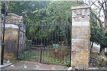 TQ2887 : Gate to Highgate West Cemetery by N Chadwick