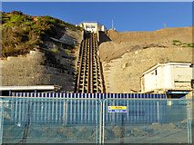 SZ0990 : East Cliff lift, Bournemouth by Robin Webster