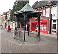 SO8963 : Small metal shelter in Victoria Square, Droitwich by Jaggery
