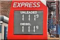 J3373 : Fuel prices sign, Belfast (26 November 2016) by Albert Bridge