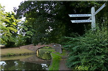 SO8685 : Fingerpost at Stourton Junction by Mat Fascione