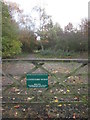 TA0253 : Entrance  to  Centenary  Wood  Hutton by Martin Dawes