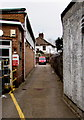 SO3700 : Royal Mail delivery office and red van, Usk by Jaggery