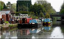 SJ9001 : Moored narrowboats near Oxley, Wolverhampton by Roger  Kidd