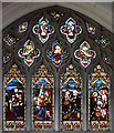 TL3770 : St Mary, Over - Stained glass window by John Salmon