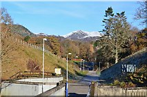 NN9357 : Access road to the dam, Pitlochry by Jim Barton