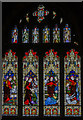 TL1998 : North transept window, Peterborough Cathedral by Julian P Guffogg