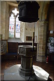 TQ5045 : Church of St Mary - font by N Chadwick