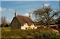 ST8084 : Thatched Cottage, Little Badminton, Gloucestershire 2013 by Ray Bird