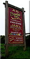 SN1303 : Broadfield Farm Holiday Park nameboard, Saundersfoot by Jaggery
