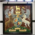 SJ9295 : Royal coat of arms by Gerald England