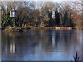 SJ9786 : Old works pond at Strines by Stephen Burton