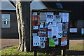 SP9214 : Marsworth village hall noticeboard by Robert Eva