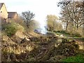 SK4134 : Vegetation clearance on the Derby Canal by Ian Calderwood