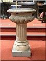 SJ9295 : St Lawrence's font by Gerald England