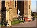 TQ8009 : Statue at convent chapel by Patrick Roper