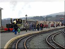 SH5738 : A train for Hafod-y-llyn by John Lucas