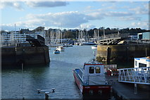 SX4653 : Harbour entrance & Swing Bridge, Royal William Yard by N Chadwick